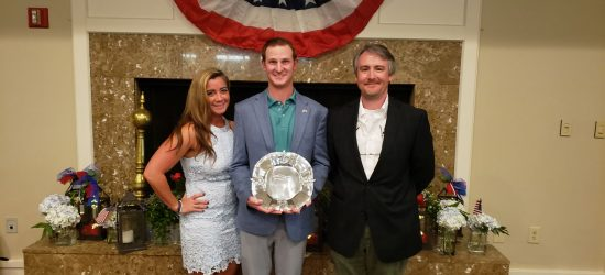 From L to R: Rally Winners Gillie Griggs & Nick Grdina, Rally Commissioner Chris Smith